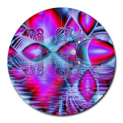 Crystal Northern Lights Palace, Abstract Ice  8  Mouse Pad (Round)