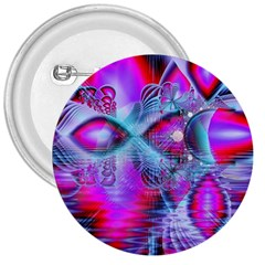 Crystal Northern Lights Palace, Abstract Ice  3  Button