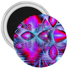 Crystal Northern Lights Palace, Abstract Ice  3  Button Magnet