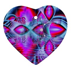 Crystal Northern Lights Palace, Abstract Ice  Heart Ornament