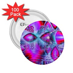 Crystal Northern Lights Palace, Abstract Ice  2 25  Button (100 Pack)