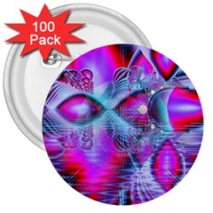 Crystal Northern Lights Palace, Abstract Ice  3  Button (100 pack)