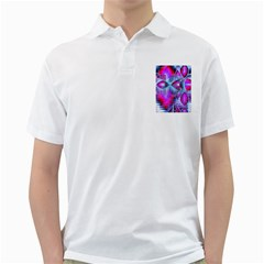 Crystal Northern Lights Palace, Abstract Ice  Men s Polo Shirt (white)