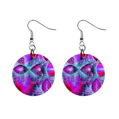 Crystal Northern Lights Palace, Abstract Ice  Mini Button Earrings