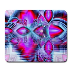 Crystal Northern Lights Palace, Abstract Ice  Large Mouse Pad (Rectangle)