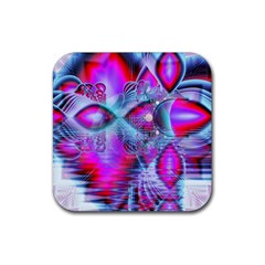 Crystal Northern Lights Palace, Abstract Ice  Drink Coaster (Square)