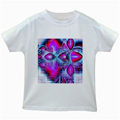 Crystal Northern Lights Palace, Abstract Ice  Kids T-shirt (White)