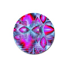 Crystal Northern Lights Palace, Abstract Ice  Magnet 3  (Round)