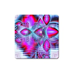 Crystal Northern Lights Palace, Abstract Ice  Magnet (Square)