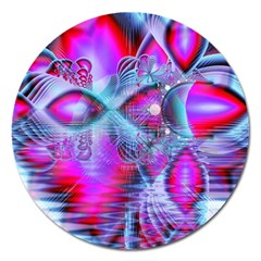Crystal Northern Lights Palace, Abstract Ice  Magnet 5  (Round)