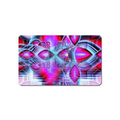 Crystal Northern Lights Palace, Abstract Ice  Magnet (Name Card)