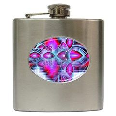Crystal Northern Lights Palace, Abstract Ice  Hip Flask