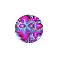 Crystal Northern Lights Palace, Abstract Ice  Golf Ball Marker 4 Pack