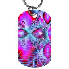 Crystal Northern Lights Palace, Abstract Ice  Dog Tag (Two-sided)