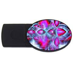 Crystal Northern Lights Palace, Abstract Ice  1GB USB Flash Drive (Oval)