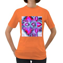 Crystal Northern Lights Palace, Abstract Ice  Women s T-shirt (Colored)
