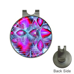 Crystal Northern Lights Palace, Abstract Ice  Hat Clip with Golf Ball Marker