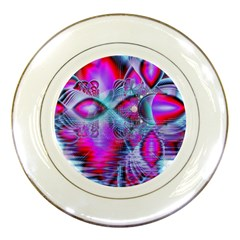 Crystal Northern Lights Palace, Abstract Ice  Porcelain Display Plate