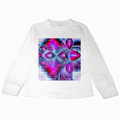 Crystal Northern Lights Palace, Abstract Ice  Kids Long Sleeve T Shirt