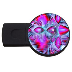 Crystal Northern Lights Palace, Abstract Ice  4gb Usb Flash Drive (round)
