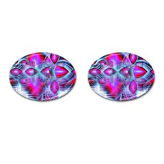 Crystal Northern Lights Palace, Abstract Ice  Cufflinks (Oval)