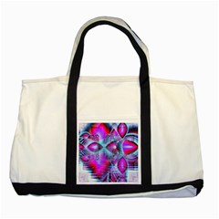 Crystal Northern Lights Palace, Abstract Ice  Two Toned Tote Bag