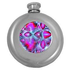 Crystal Northern Lights Palace, Abstract Ice  Hip Flask (Round)