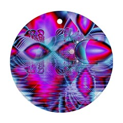 Crystal Northern Lights Palace, Abstract Ice  Round Ornament (Two Sides)