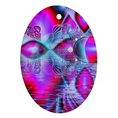 Crystal Northern Lights Palace, Abstract Ice  Oval Ornament (two Sides)
