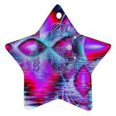 Crystal Northern Lights Palace, Abstract Ice  Star Ornament (two Sides)