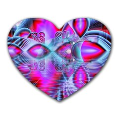 Crystal Northern Lights Palace, Abstract Ice  Mouse Pad (heart)