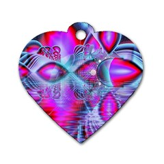 Crystal Northern Lights Palace, Abstract Ice  Dog Tag Heart (two Sided)