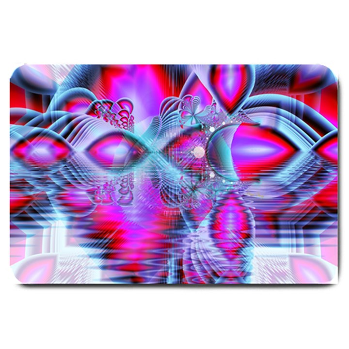 Crystal Northern Lights Palace, Abstract Ice  Large Door Mat