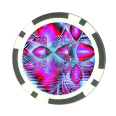 Crystal Northern Lights Palace, Abstract Ice  Poker Chip