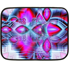 Crystal Northern Lights Palace, Abstract Ice  Mini Fleece Blanket (Two Sided)