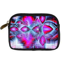 Crystal Northern Lights Palace, Abstract Ice  Digital Camera Leather Case