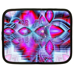 Crystal Northern Lights Palace, Abstract Ice  Netbook Sleeve (xl)