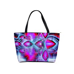 Crystal Northern Lights Palace, Abstract Ice  Large Shoulder Bag