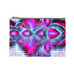 Crystal Northern Lights Palace, Abstract Ice  Cosmetic Bag (Large)
