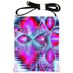 Crystal Northern Lights Palace, Abstract Ice  Shoulder Sling Bag