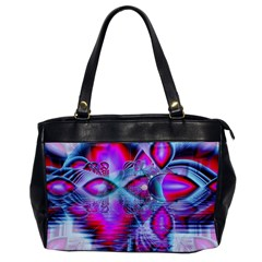 Crystal Northern Lights Palace, Abstract Ice  Oversize Office Handbag (one Side)