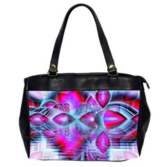 Crystal Northern Lights Palace, Abstract Ice  Oversize Office Handbag (Two Sides)