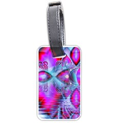 Crystal Northern Lights Palace, Abstract Ice  Luggage Tag (Two Sides)