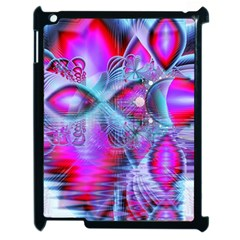 Crystal Northern Lights Palace, Abstract Ice  Apple Ipad 2 Case (black)