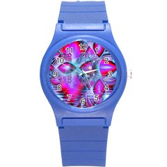 Crystal Northern Lights Palace, Abstract Ice  Plastic Sport Watch (small)