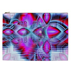 Crystal Northern Lights Palace, Abstract Ice  Cosmetic Bag (XXL)