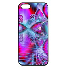 Crystal Northern Lights Palace, Abstract Ice  Apple Iphone 5 Seamless Case (black)