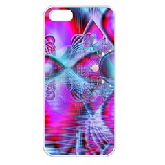 Crystal Northern Lights Palace, Abstract Ice  Apple Iphone 5 Seamless Case (white)