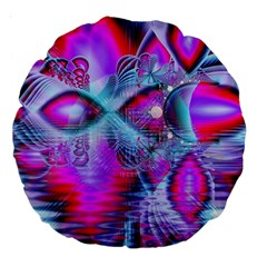 Crystal Northern Lights Palace, Abstract Ice  18  Premium Round Cushion