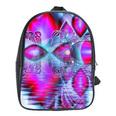 Crystal Northern Lights Palace, Abstract Ice  School Bag (XL)